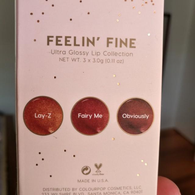 ColourPop Feeling Fine Lip Gloss Trio set