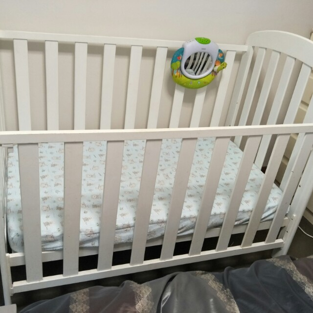 Cot and change table