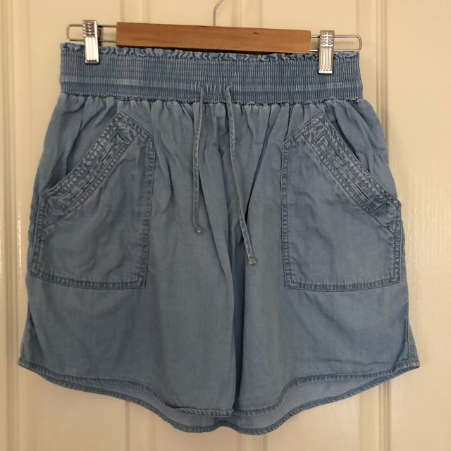 Country Road Chambray Skirt Fits Au 8-10