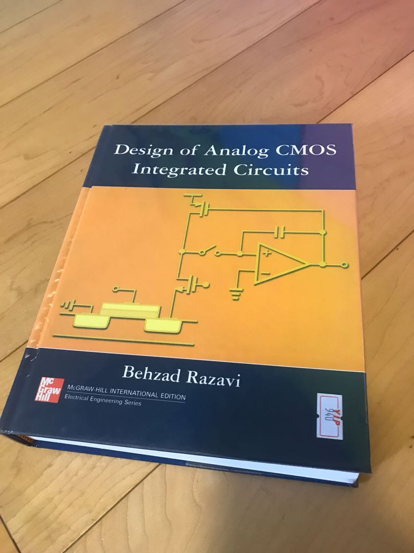 design of analog cmos integrated circuits, books \u0026 stationerydesign of analog cmos integrated circuits, books \u0026 stationery, textbooks on carousell