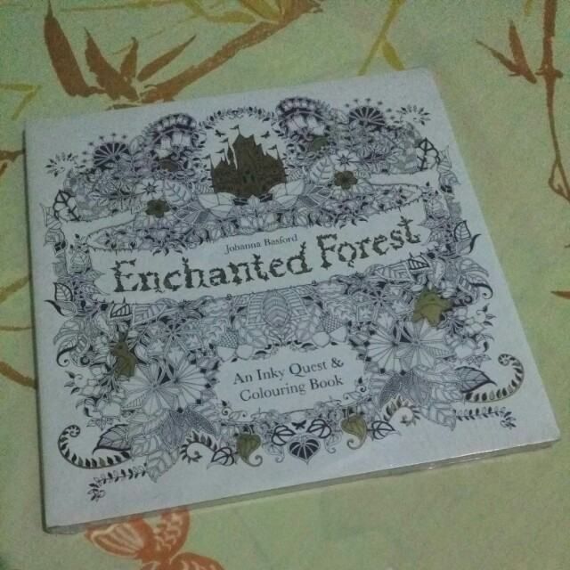 Enchanted Forest By Johanna Basford An Inky Quest Colouring Book
