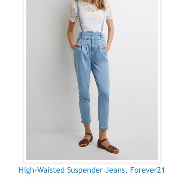 F21 dungaree highwaist suspender
