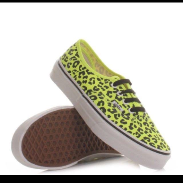 Fluro Yellow Leopard Print Vans
