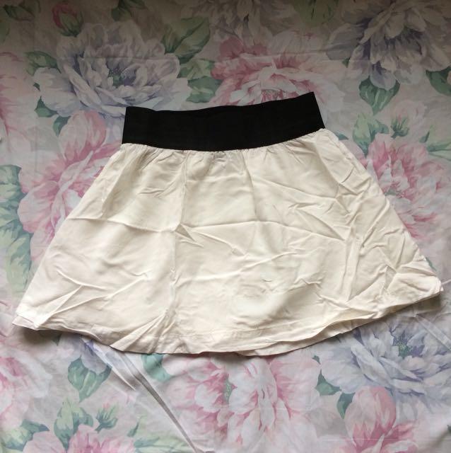 Forever 21 Flowy Skirt - White