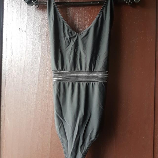 Forever 21 swimsuit XL black (cross back)