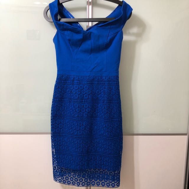 e8af6fa95ac Forever New beautiful Blue half lace dress