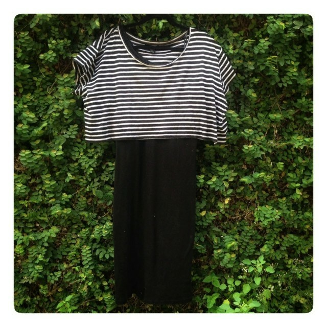 Forever XXI stripes crop top