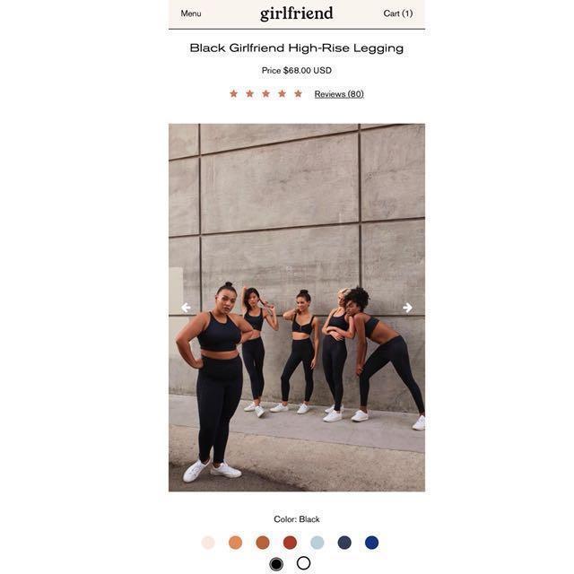 Girlfriend Collective Leggings Black High Rise XS