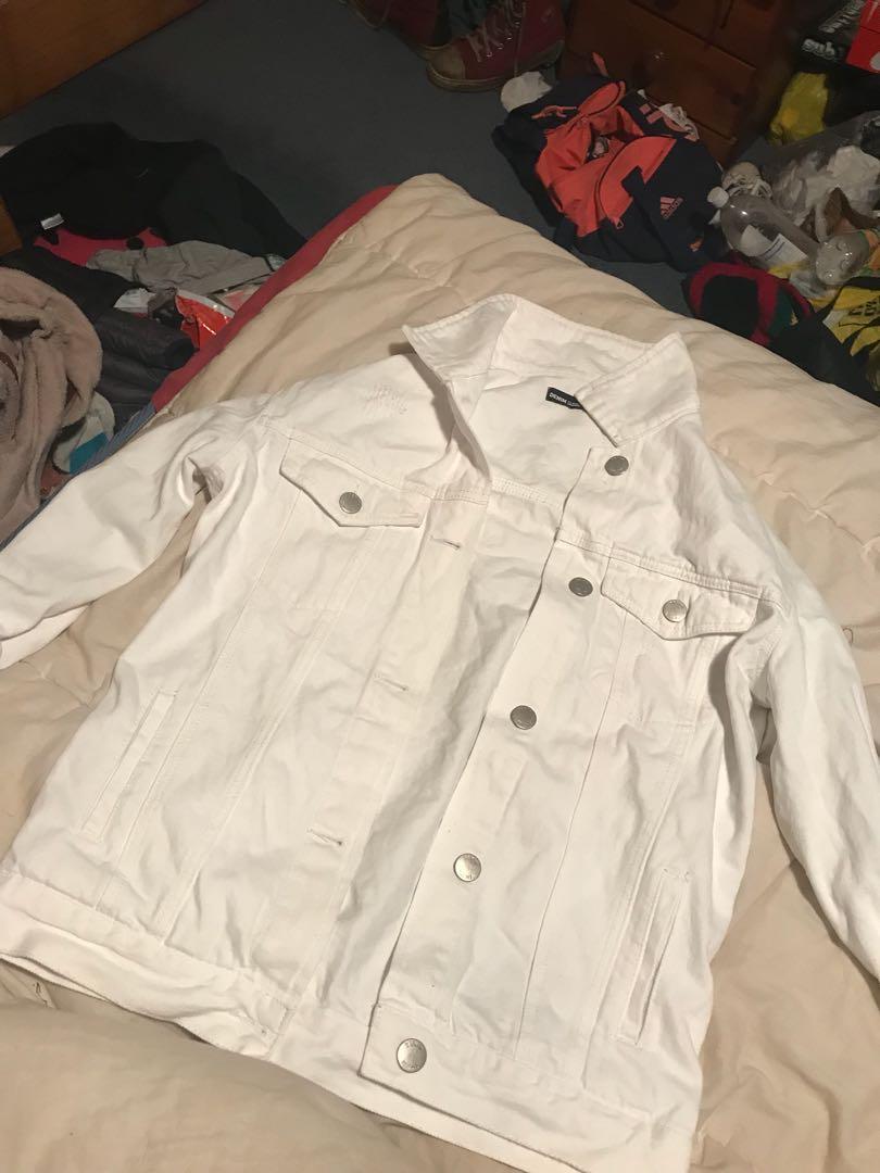 Glassons white oversized denim jacket