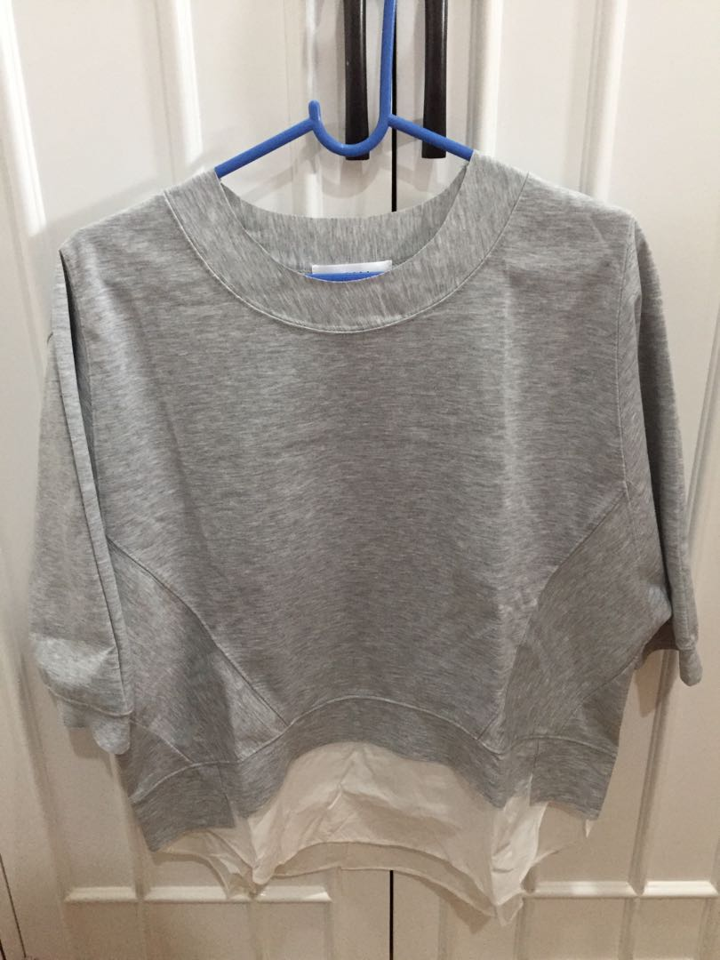 Gray sleeve top