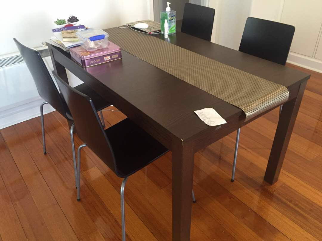Ikea Extendable Dining Table + 4Chairs