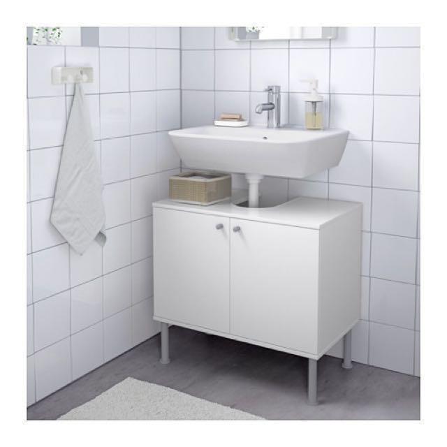 Ikea Fullen Pedestal Sink Storage Cabinet Moving Out Sale