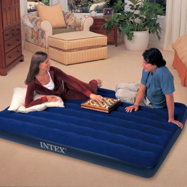 """Intex Queen Classic Downy Airbed Mattress 8.75"""""""