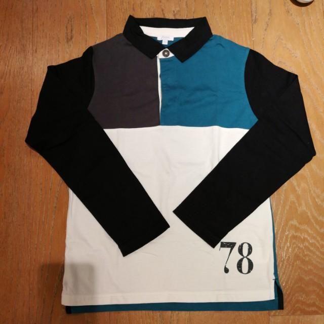 Jacadi男童長袖螺紋棉質上衣。130~140公分