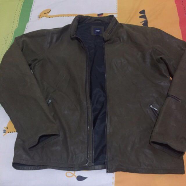 Jaket Kulit Leather GAP