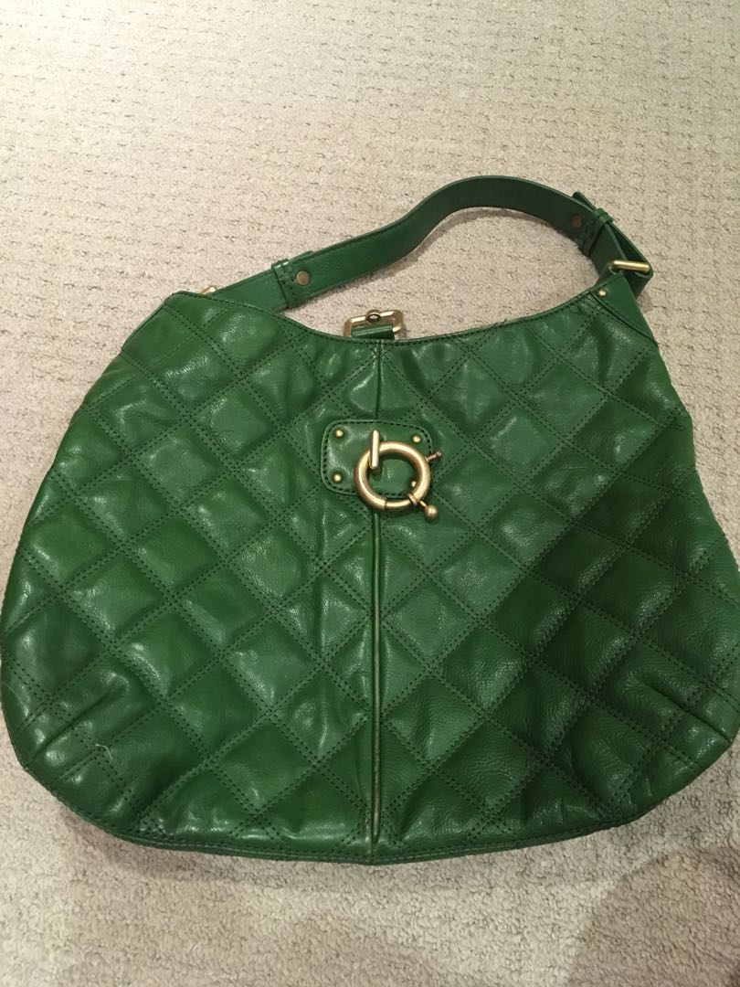 JCrew Green Hobo Bag