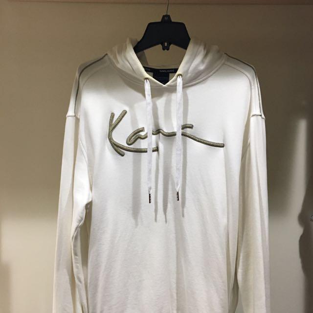 美國🇺🇸KARL KANI 正版 男帽T上衣 白底金字