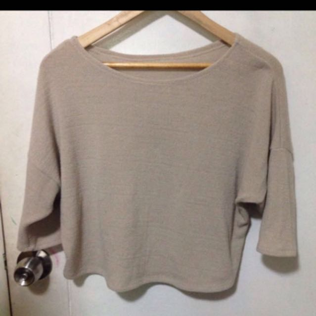 Knitted nude top