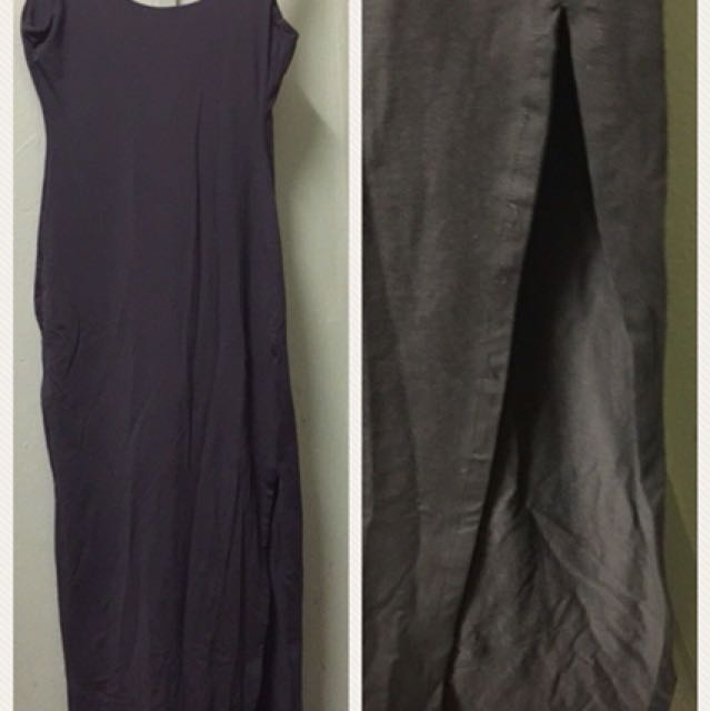 Kookai Khaki Maxi Dress - Size 2 (8-10)