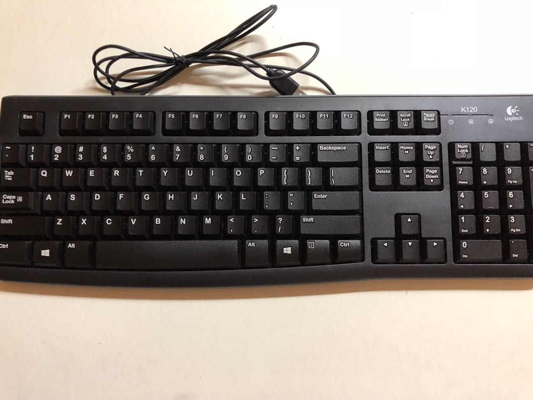 9404c3a7a37 Logitech k120 usb keyboard black, Electronics, Computer Parts & Accessories  on Carousell