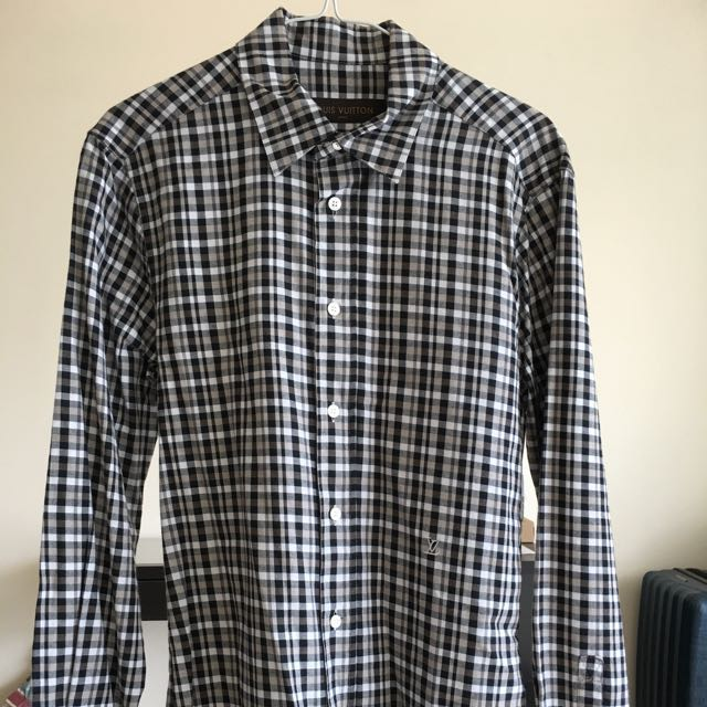 4180c8f24748 Louis Vuitton Mens flannel Button up shirt
