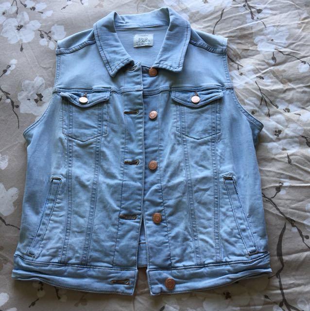 📮Mango Light Blue Denim Vest