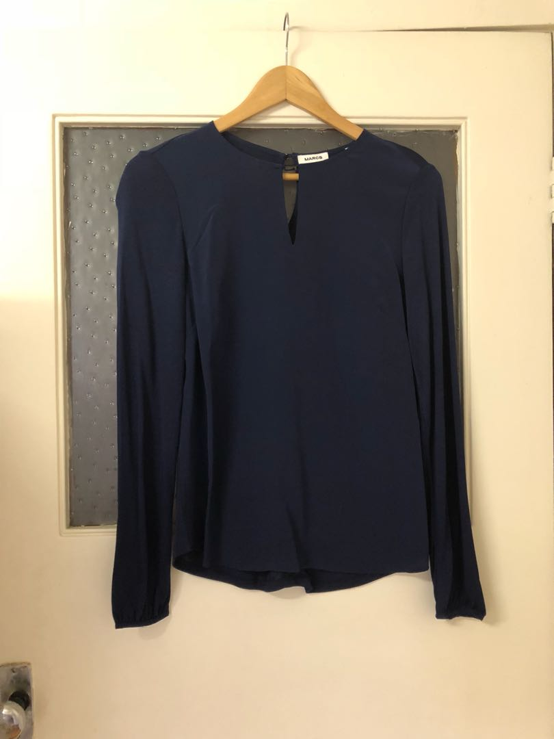 MARCS Navy Silk/Modal long sleeve