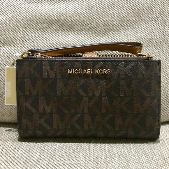 Michael Kors Double Zip Mobile Wallet/Wristlet
