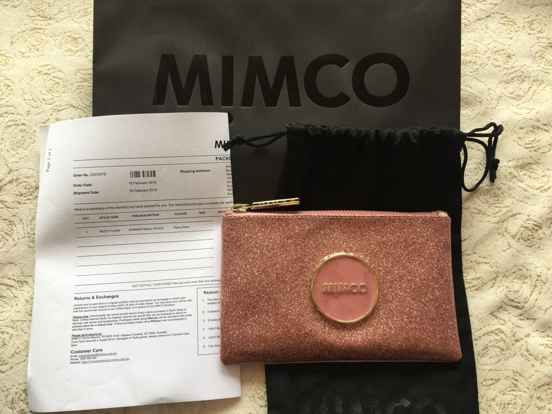 Mimco shimmer pouch