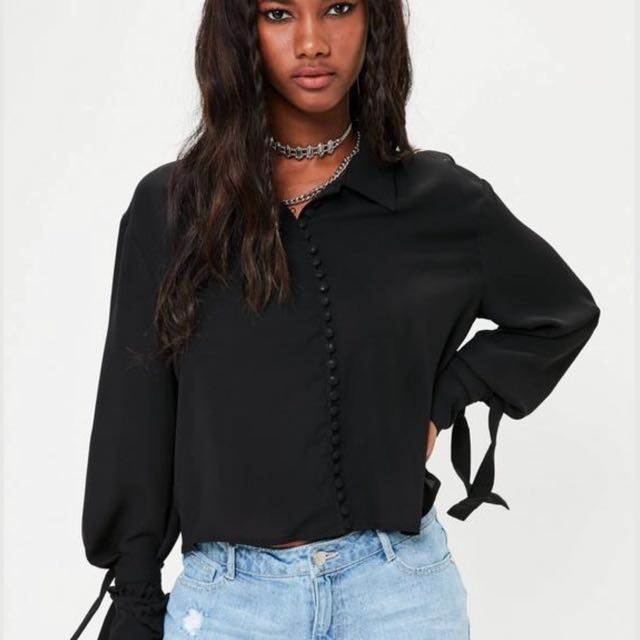 Missguided Buttoned Blouse