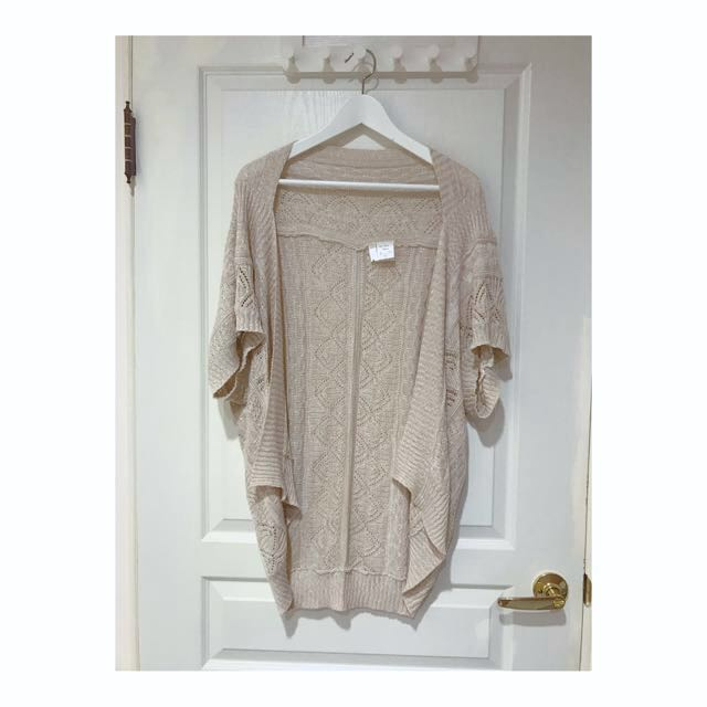 Mystywoman 日本品牌 高單價 兩穿針織簍空外套罩衫 earth music