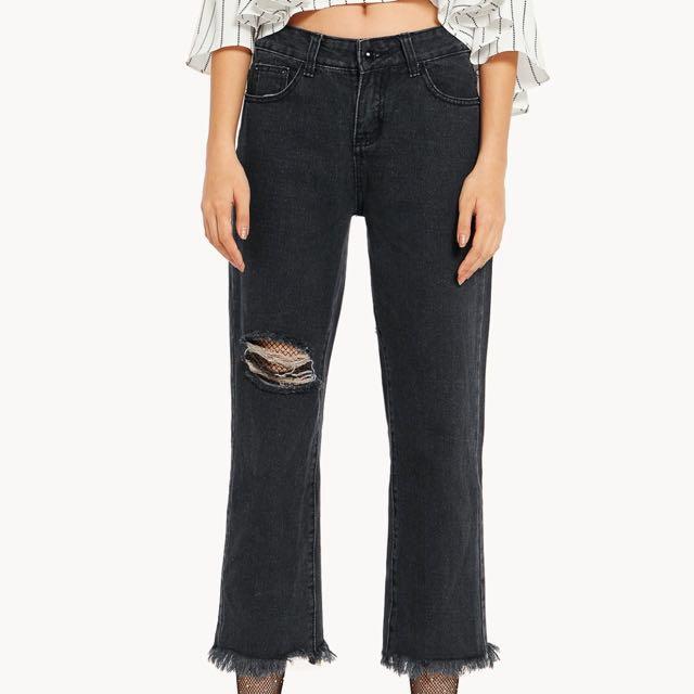 [NEW] Pomelo Distressed Boyfriend Jeans