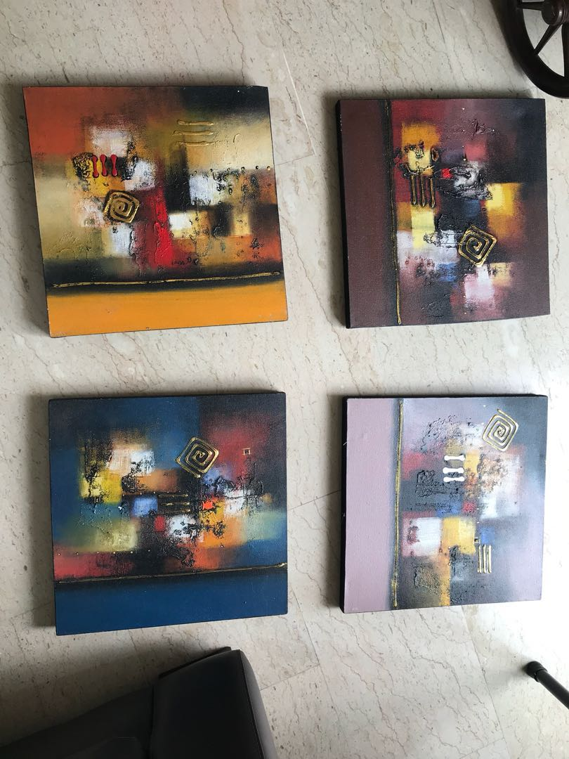 Oil paintings - moving out sale