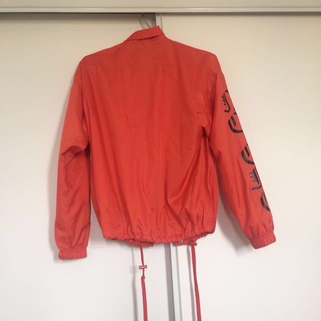 Orange windbreaker