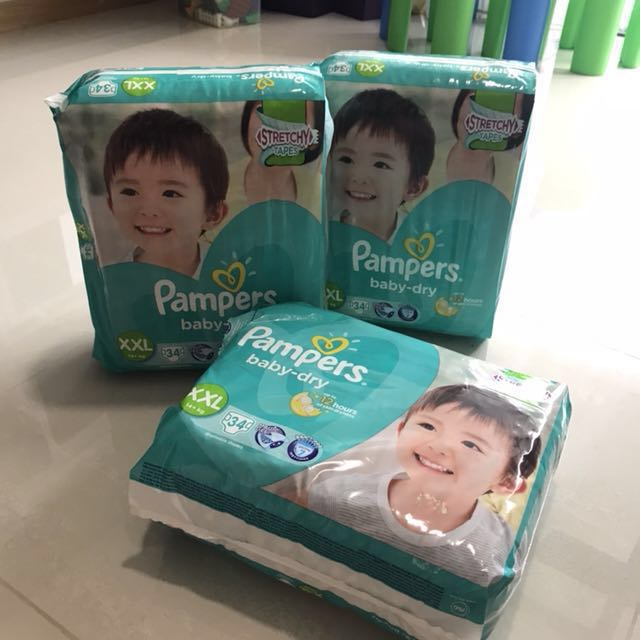 Pampers baby dry XXL (14+ kg) x 3 packets