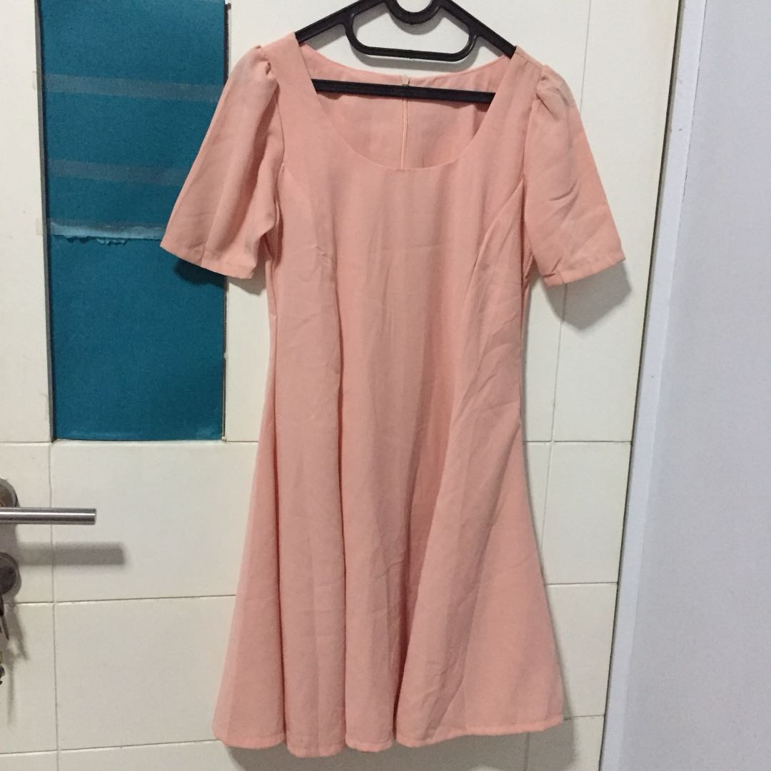 Peachy dress pastel