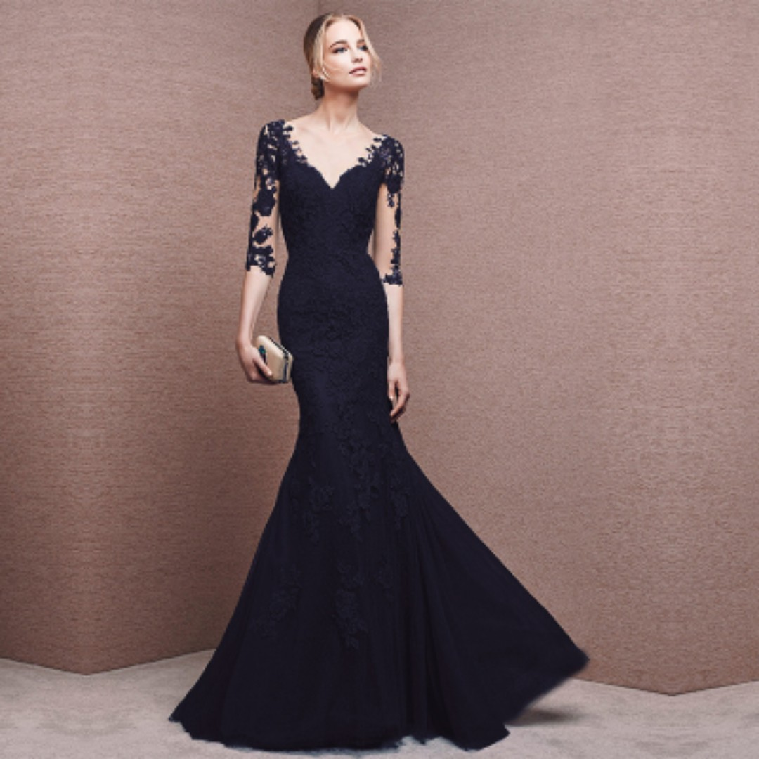 54d179a5d526 Pre order Red blue black bodycon long sleeve wedding bridal prom ...
