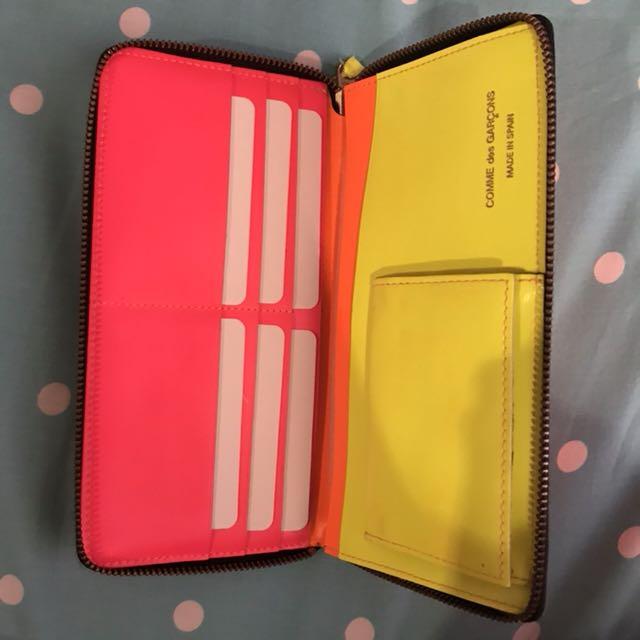 [PRELOVED] CDG Long Wallet Orange Fluo (Complete Set)