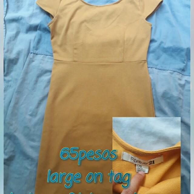 Preloved forever21 mustard dress