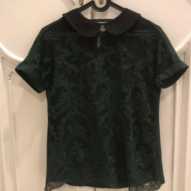 PRELOVED: Minimal Green Shirt