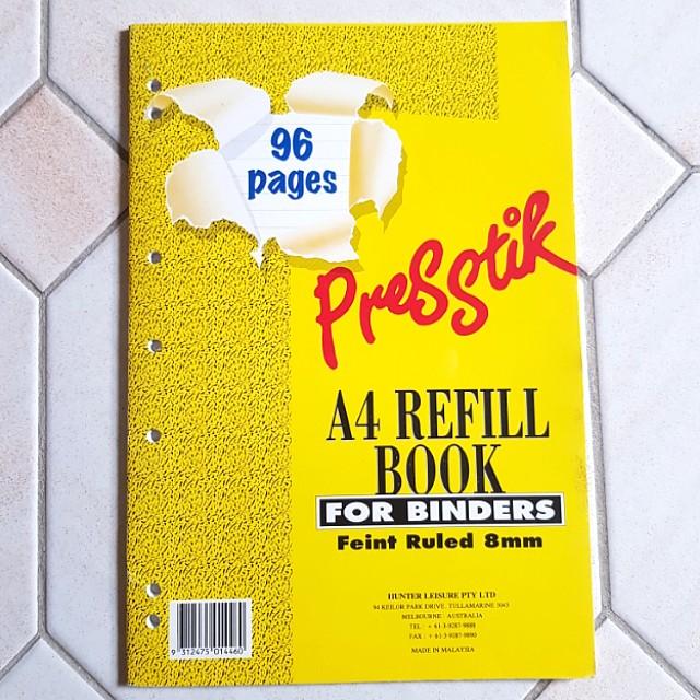 PRESSTIK A4 Refill Excerise Book 96pages