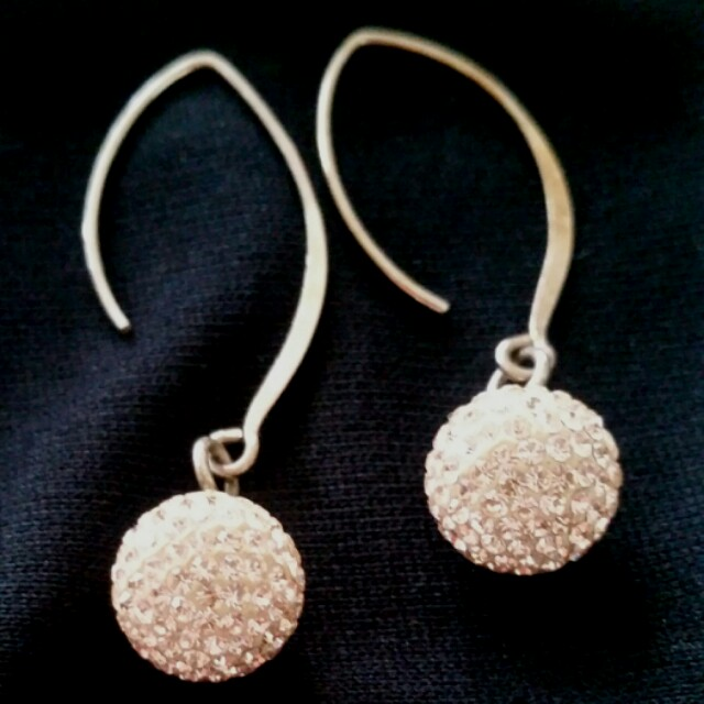 Rose gold swarovsky components earrings