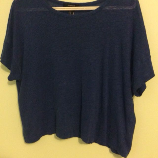 Royal blue crop top markdown!