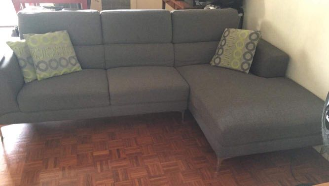 Magnificent Rush Sale Mandaue Foam Super Comfy Lshape Couch On Carousell Evergreenethics Interior Chair Design Evergreenethicsorg