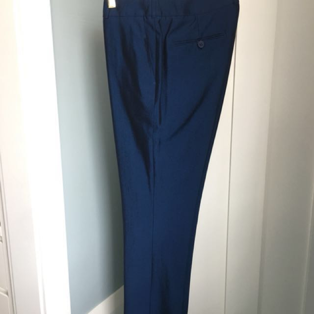 Saba stovepipe pants in unique blue