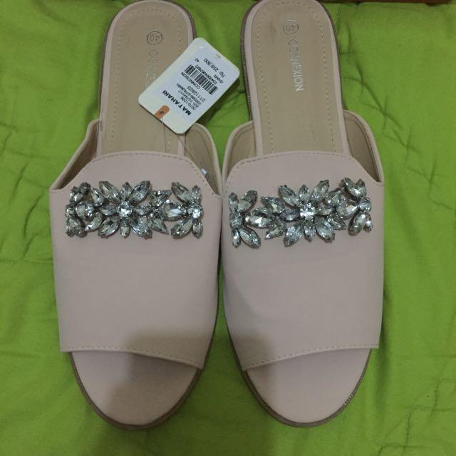 Sandal payet nude