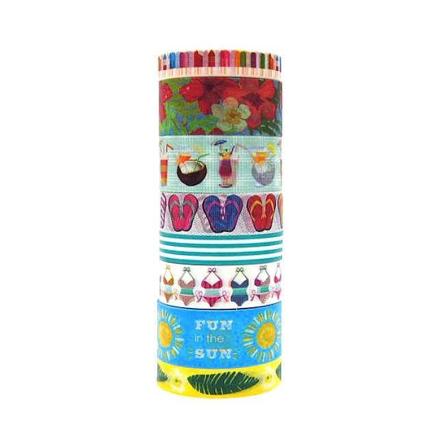 Seaside Dream Washi Crafting Tape Tube by Craft Smart