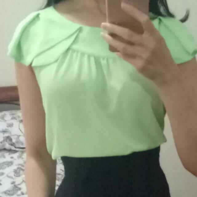 Sheike sheer lime sleeveless blouse 10