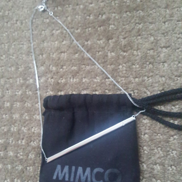 Silver Mimco necklace double sided