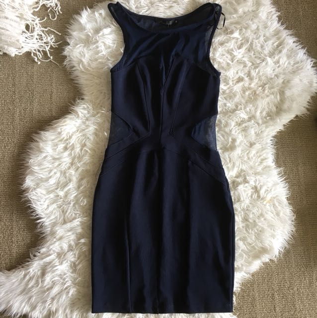 Size 6 bodycon dress with mesh